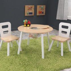d248b256e5a7 KidKraft Okrúhly stôl a dve stoličky natural a biely alternatívy ...