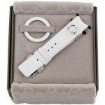 Gucci 129 Medium White Leather Watch Strap and Matching Bezel YFA50005