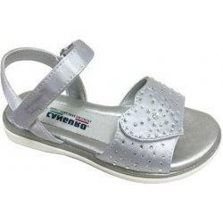 dd272deffa24 Canguro Dievčenské remienkové sandále s kamienkami strieborné od 15 ...