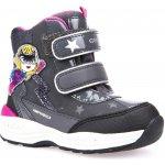 Geox Dievčenské svietiace zimné topánky New Gulp šedé