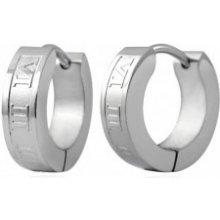 c85b85f2b Šperky eshop Oceľové náušnice krúžky striebornej rímske číslice Q23.05