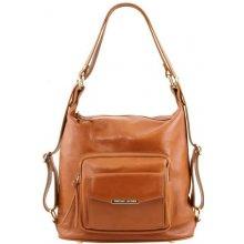 c210f060429 Tuscany BAG kožená kabelka 2v1 koňaková