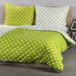 4Home bavlna obliečky Zelená bodka 140x200 70x90