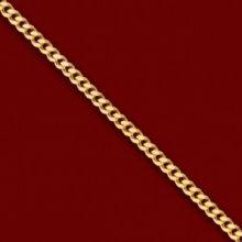 Silver.ag Retiazka zlatá, diamond cut curb C1299