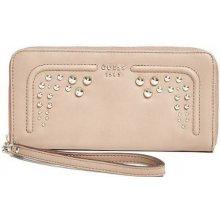 Guess peňaženka Athina Studded Zip-Around hnedá 0fa2dedc012