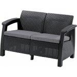 ALLIBERT pohovka k záhradného nábytku CORFU LOVE SEAT antracit/šedá