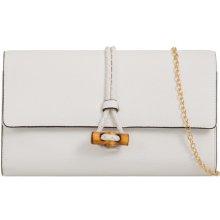 f4a1515af0 listová kabelka so zaujímavým zapínaním K-T712 biela
