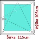 Soft Plastové okno 115x105 cm, otváravé a sklopné