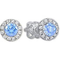 Brilio zlaté okrúhle náušnice so svetlo modrým kryštálom 239 001 00806 07 8a10920aa65