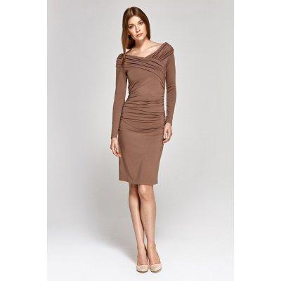 Colett koktejlové šaty 118852 béžový