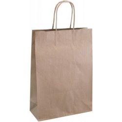 db8a63390 Darčeková papierová taška, papierové krútené uši , natural, L ...