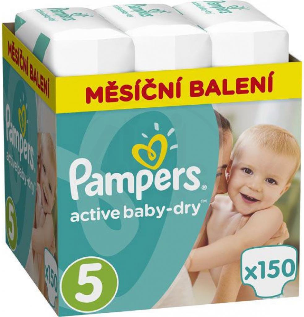 Pampers Active Baby 5 Junior 11-18 kg 150 ks