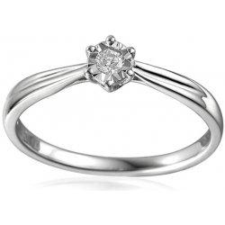 iZlato Design Zásnubný prsteň z bieleho zlata s diamantom Waiana IZBR501 7fd0f7a9fe7