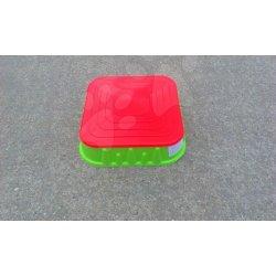 476d8438c STARPLAST 04516-8 Pieskovisko štvorec s krytom, zeleno-červené ...