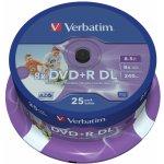 Verbatim DVD+R 8,5GB 8x, 25ks