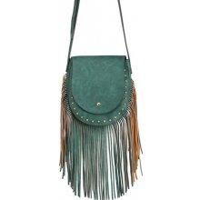 kabelka strapcová crossbody dámska zelená 3dd7190b195