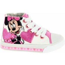 Disney by Arnetta Dievčenské členkové tenisky Minnie biele 6eab13c84c8