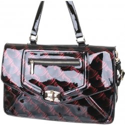 Ladies Shoulder Bag Red Black