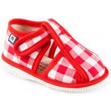 fa5f81477a RAK Detské papuče 100015 Červené káro limitovaná edícia