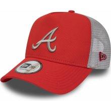 49375ced9 New Era 9FORTY Afra TRUCKER MLB LEAGUE ESSENTIAL Atlanta Braves červená  11871472