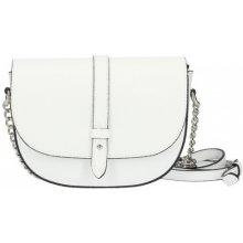Talianska kožená kabelka na rameno 5074 biela 5d4e2da8ab0