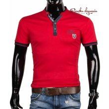 10971-12 Elegantné pánske tričko červenej farby
