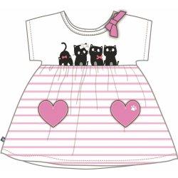 561fa707cce5 Mix  n Match Dievčenské šaty s mačičkam-bielo-ružové alternatívy ...