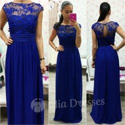 39a3b9f3ca54 Modré šifónové spoločenské šaty od 85