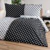 4Home bavlna obliečky Čierná bodka Jerry Fabrics 140x220 70x90