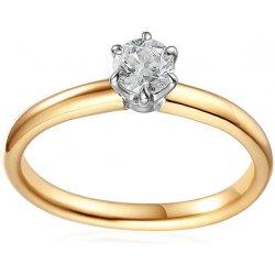 a5bb2deb7 iZlato Design Zlatý dvojfarebný zásnubný prsteň s diamantom Caissa IZBR580