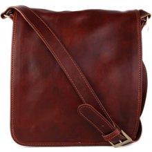 3f80fbb23 Talianske kožené kabelky pánske cez plece veľké Chulio hnedé