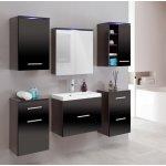 Malys-group Kúpeľňa MEGI 4 wenge/čierny lesk