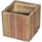 Kvetináč G21 Wood Cube 36x36x34cm