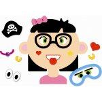 Goki Magnetická kniha Zábavné tváre dievča