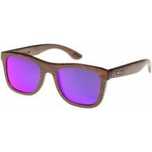 Wood Fellas Jalo Mirror/ Brown/Purple