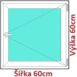 Soft Plastové okno 60x60 cm, otváravé
