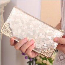 Dámská peněženka v luxusním designu - zlatá