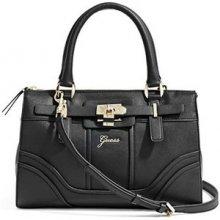 Guess Elegantná kabelka Greyson Small Satchel Black