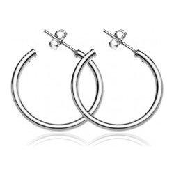 127161e93 Šperky eshop strieborné náušnice široké, hladké kruhy, A13.12 od 7 ...