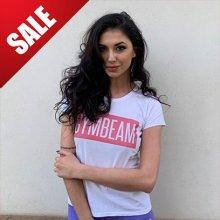 457786a3e6c0 GymBeam Dámske tričko Box Logo White Raspberry