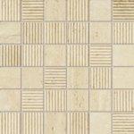 TUBADZIN TRAVERTINE 2A mat/štrukt mozaika 29,8x29,8 (kocka 4,8x4,8) Matné