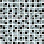 Premium Mosaic Stone Mozaika mix sivá-sklo 1,5x1,5 cm - STMOS15MIX1