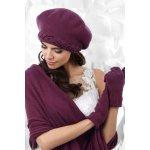 54815216b Kamea Dámský komplet BOLZANO baret + šála + burgund burgund