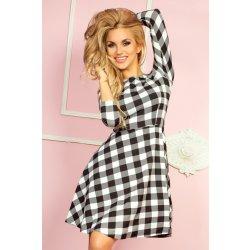 389466d0f925 Saf dámske šaty 49-1 kárované bielo-čierne bielo-čierna od 23