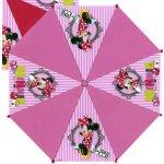 Euroswan Vystreľovací dáždnik Minnie prúžky ružová pr. 81 cm
