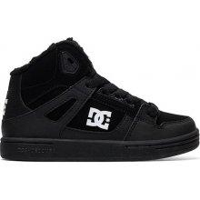 Dc PURE HIGH-TOP WNT BLACK BLACK WHITE zimné topánky detské b670b61574a