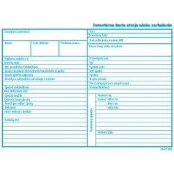 Igaz 898 Inventarna Karta Stroja Alebo Zariadenia A5 Od 0 04