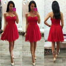 červená spoločenské šaty