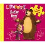 Máša a medveď-Sladký život-kniha s puzzle