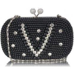 2ab8e761f3 kabelka večerná s perlami a kryštálmi čierna od 23
